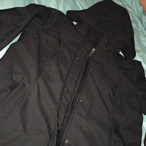 NWOT Black Weatherproof Soft Shell Jacket sz L